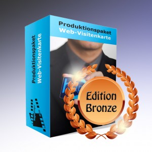 Produktionspaket Web-Visitenkarte, Edition Bronze