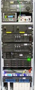 Server-Rack im Rechenzentrum von Nageldinger Film