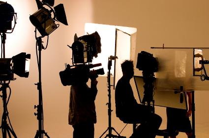 Produktion eines Werbespots oder TV-Spots